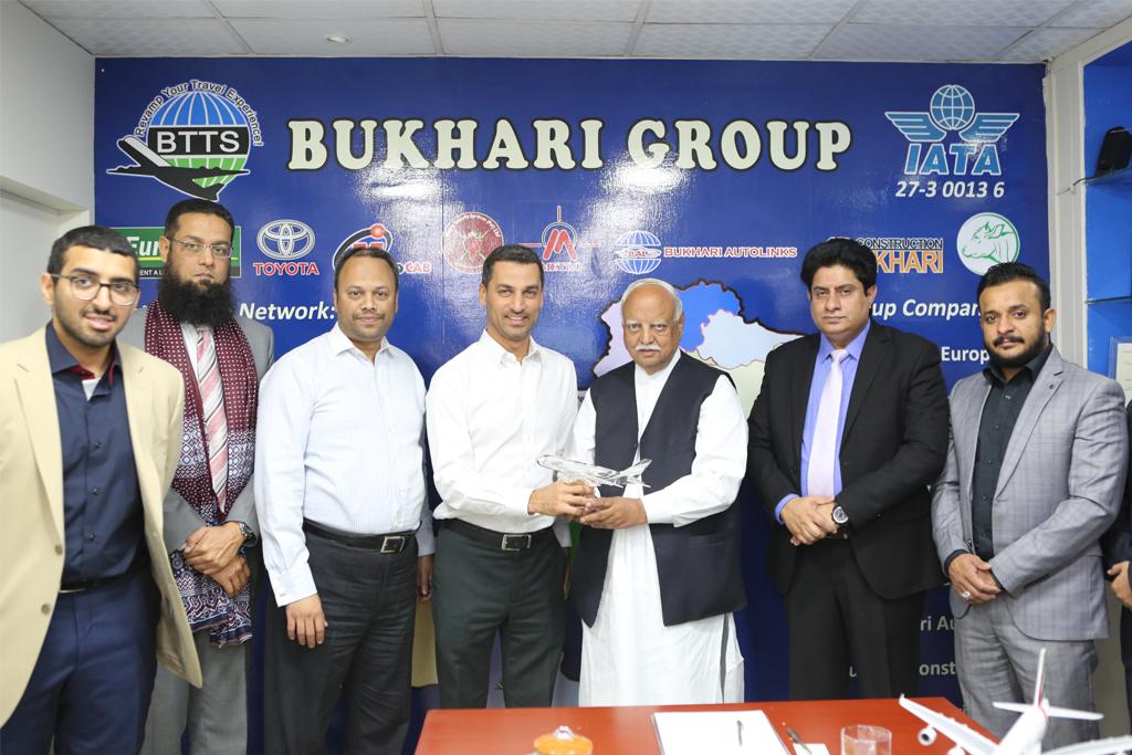 Emirates Top Management   Visits Bukhari Group Chairman Office